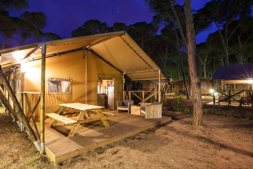 camping in Toscane - glamping-les sablons