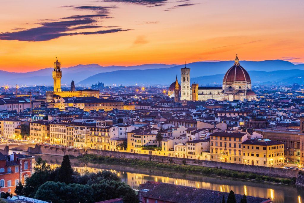 Uitzicht in Florence in de regio Toscane