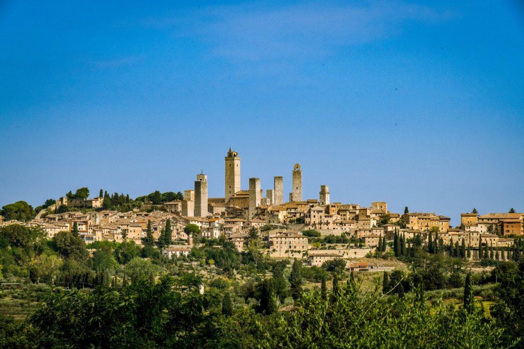 Mooi uitzicht in San Gimignano in Toscane