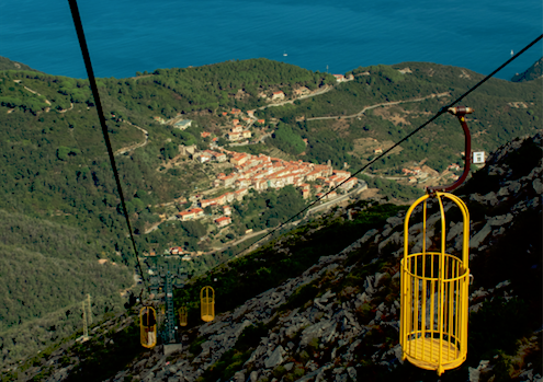 Kabelbaan op Elba